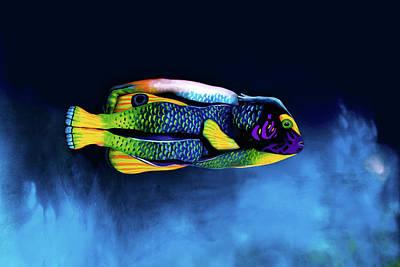 Angelfish Bodypainting Illusion Poster