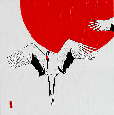 Angelic Crane Poster by Stephanie Grant