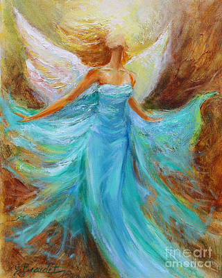 Poster featuring the painting Angelic Rising by Jennifer Beaudet