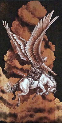 Angelic Saddle Bronc Poster by Jerrywayne Anderson