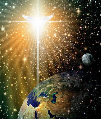 Angelic Star Over Bethlehem Poster
