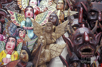 Angels And Devils Taxco Mexico Poster by John  Mitchell