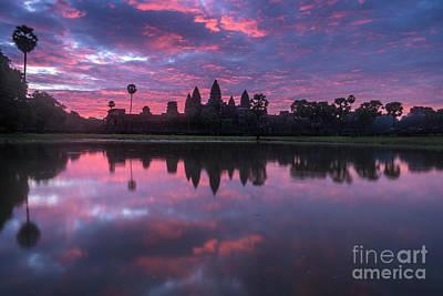 Angkor Wat Sunrise Poster by Mike Reid