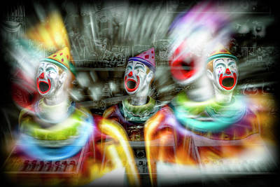 Poster featuring the photograph Angry Clowns by Wayne Sherriff