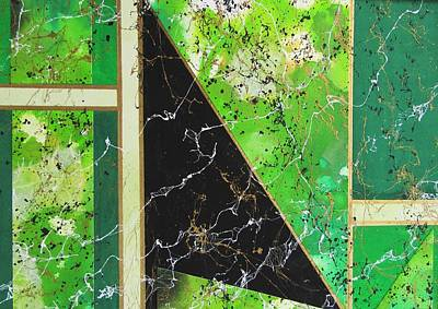 Angular Abstract In Green Poster by Louise Adams