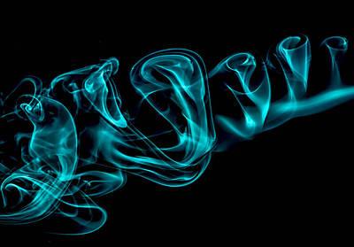 Artistic Smoke Illusion Poster