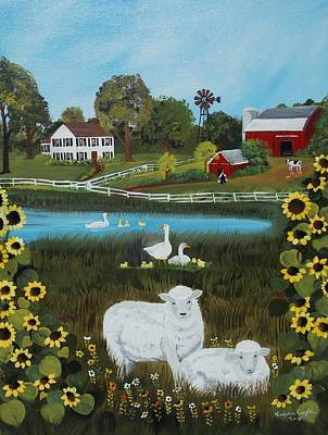 Poster featuring the painting Animal Farm by Virginia Coyle