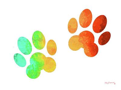 Animal Paws Art Poster by Ken Figurski