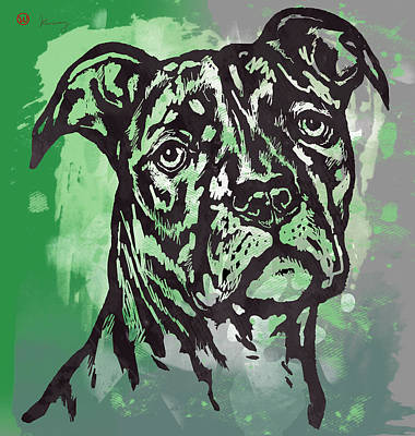 Animal Pop Art Etching Poster - Dog  17 Poster by Kim Wang