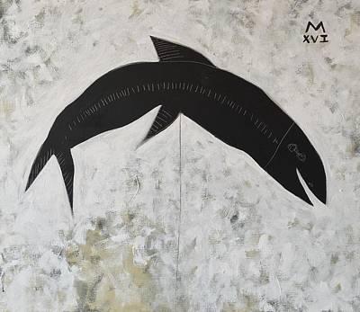 Animalia Black Fish Poster