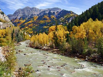 Poster featuring the photograph Animas River San Juan Mountains Colorado by Kurt Van Wagner