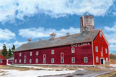 Poster featuring the painting Anken's Barn by Lynne Reichhart