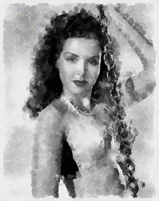 Ann Miller Actress Poster by Esoterica Art Agency