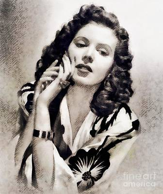 Ann Miller, Vintage Actress Poster by John Springfield