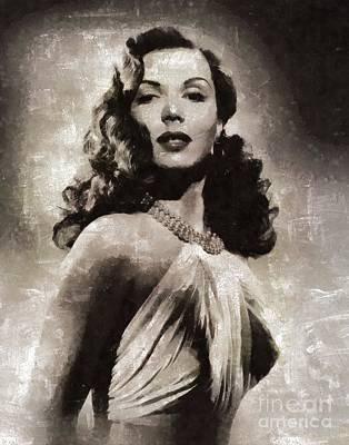 Ann Miller, Vintage Actress Poster by Mary Bassett