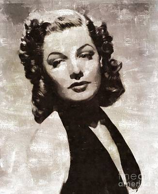Ann Sheridan, Vintage Actress By Mary Bassett Poster by Mary Bassett