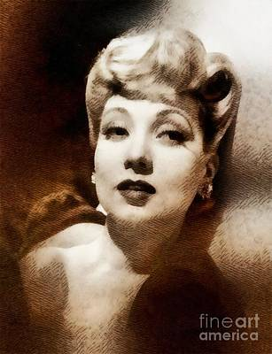 Ann Sothern, Vintage Actress By John Sothern Poster by John Springfield