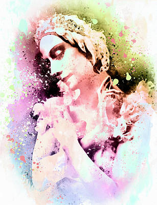 Anna Pavlova Whimsical Ballerina Poster