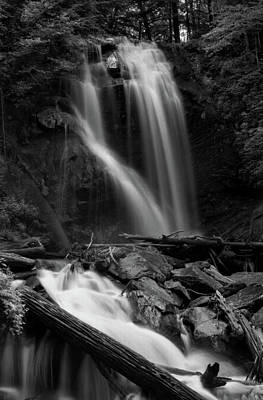 Anna Ruby Falls In Black And White Poster