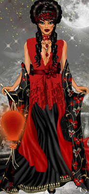 Poster featuring the digital art Annamia by Digital Art Cafe