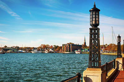 Annapolis Harbor Poster by Mick Burkey