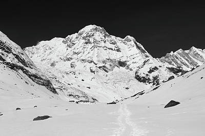 Annapurna South From Annapurna Base Camp Poster by Aidan Moran