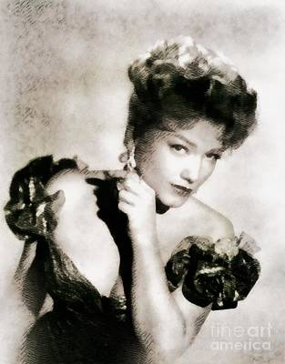Anne Baxter, Vintage Hollywood Actress Poster