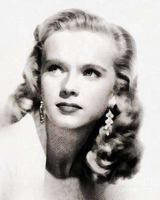 Anne Francis, Vintage Actress By John Springfield Poster