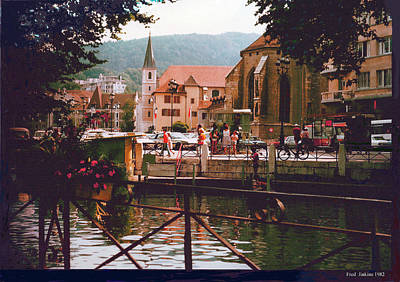 Annecy France Village Scene Poster
