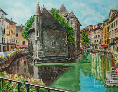 Annecy-the Venice Of France Poster by Charlotte Blanchard