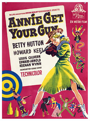 Annie Get Your Gun, Betty Hutton, 1950 Poster by Everett
