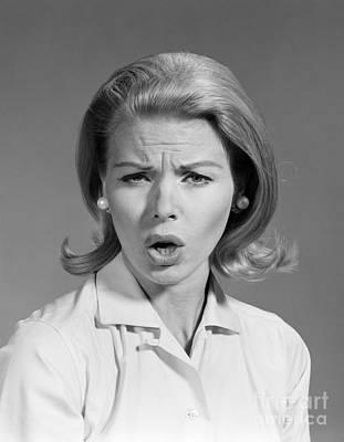 Annoyed Woman, C.1960s Poster