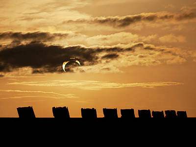 Annular Eclipse Over Cadillac Ranch Poster
