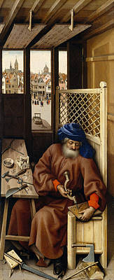 Annunciation Triptych, Merode Altarpiece, Left Wing Poster by Robert Campin