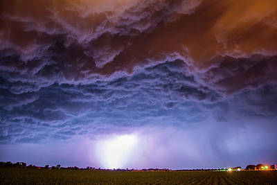 Poster featuring the photograph Another Impressive Nebraska Night Thunderstorm 007 by NebraskaSC