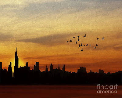 Another New York Sunrise Poster by Tom York Images