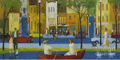 Poster featuring the painting Another Perfect Day by Glenn Quist