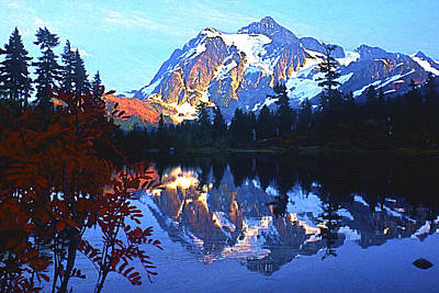 Another Shuksan Reflection Poster by Todd Kreuter