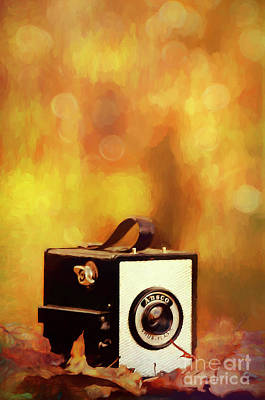 Ansco Vintage Box Camera Poster by Darren Fisher