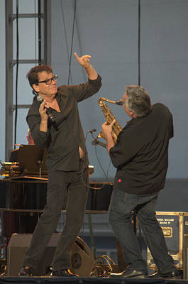 Anson Williams And Sax Player Poster by Timothy Ruf