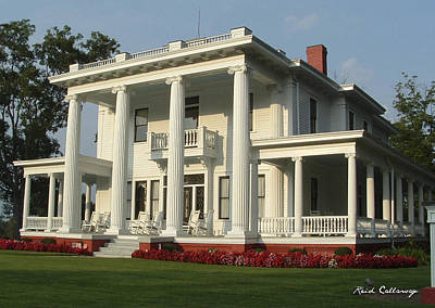 Antebellum Home Gone With The Wind Style Southern Living Home Poster by Reid Callaway