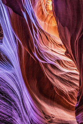 Antelope Canyon Air Glow Poster
