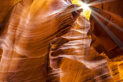 Antelope Canyon Sunrays Poster by Melanie Viola