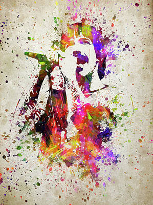 Anthony Kiedis In Color Poster