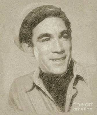 Anthony Quinn Hollywood Actor Poster by Frank Falcon