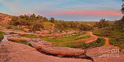 Anti-crepuscular Colors At Enchanted Rock State Natural Area - Fredericksburg Texas Hill Country Poster by Silvio Ligutti