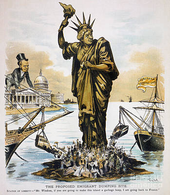 Anti-immigration Cartoon Poster by Granger