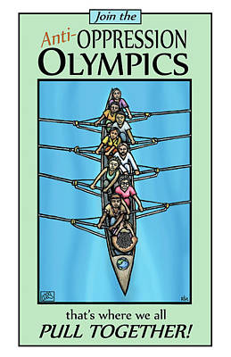 Anti-oppression Olympics Poster by Ricardo Levins Morales