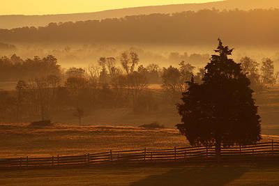 Antietam National Battlefield At Sunrise Poster