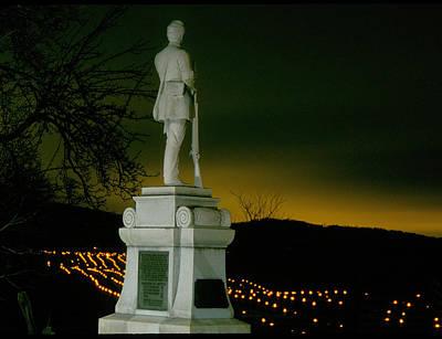 Antietam National Battlefield Memorial Illumination - Fallen Along Richardson Avenue And Sunken Road Poster by Michael Mazaika